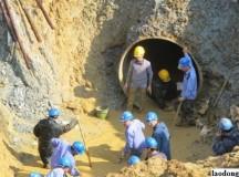 Đường ống nước sạch sông Đà về Hà Nội gặp sự cố lần thứ 21