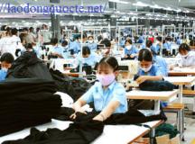 Xuất khẩu lao động Đài Loan – Đơn hàng may ngày 08/10/2017
