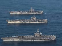 """Mỹ – Nhật tập trận """"nắn gân"""" Triều Tiên sau chuyến công du của Tổng thống Trump"""